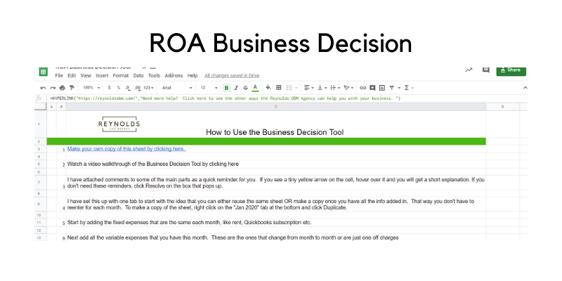 ROA Business Decision