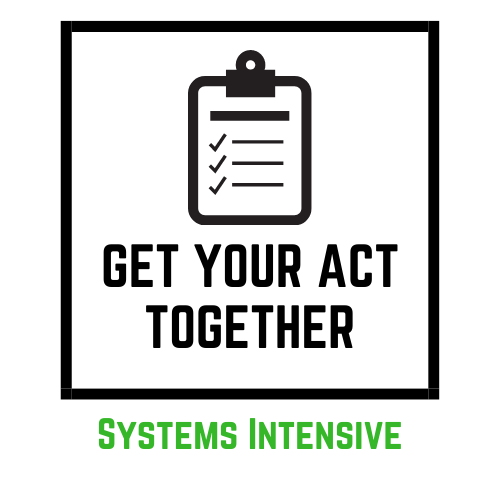 Get Your Act Together Systems Intensive